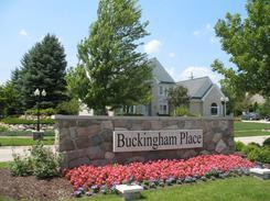 Buckingham Place Neighborhood Sign In Canton